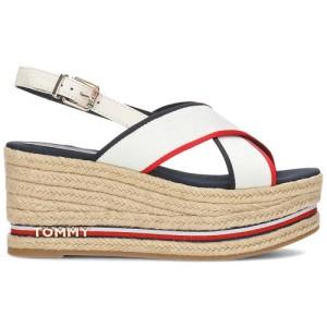 נעליים טומי הילפיגר לנשים Tommy Hilfiger  Flatform Corporate Ribbon - לבן