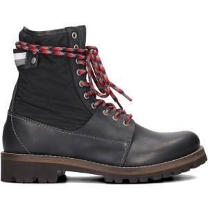מגפיים טומי הילפיגר לגברים Tommy Hilfiger  High Material Mix - שחור