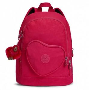 אביזרים קיפלינג לנשים Kipling Heart Backpack - ורוד