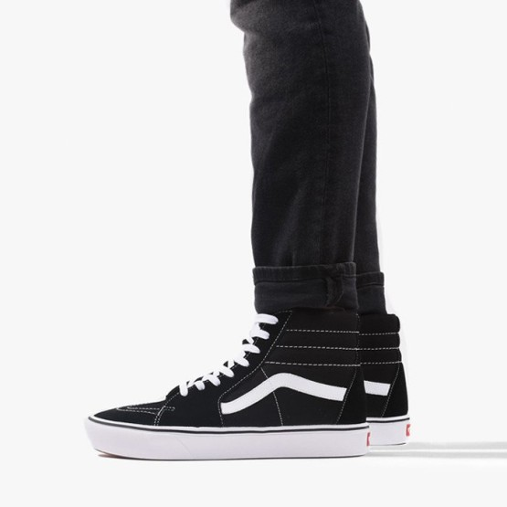 נעלי סניקרס ואנס לגברים Vans ComfyCush Sk8-Hi - שחור/לבן