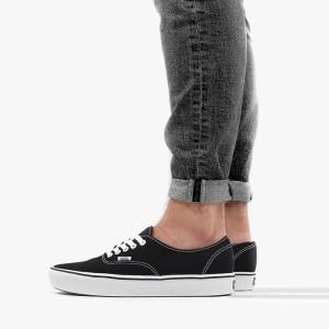 נעלי סניקרס ואנס לגברים Vans ComfyCush Authentic - שחור/לבן