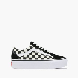 נעליים ואנס לגברים Vans Old Skool Platform - שחור/לבן