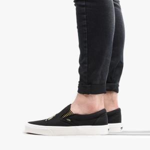 נעליים ואנס לנשים Vans x Harry Potter Classic Slip-On Hufflepuff - שחור
