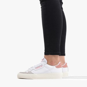 נעליים Adidas Originals לנשים Adidas Originals Continental Vulc - לבן/ורוד