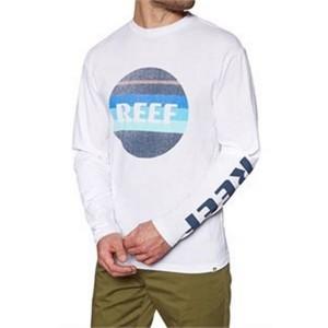 ביגוד ריף לגברים Reef PEELER 2 TEE LS - לבן