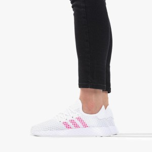 נעלי סניקרס אדידס לנשים Adidas Originals Deerupt Runner - ורוד/לבן