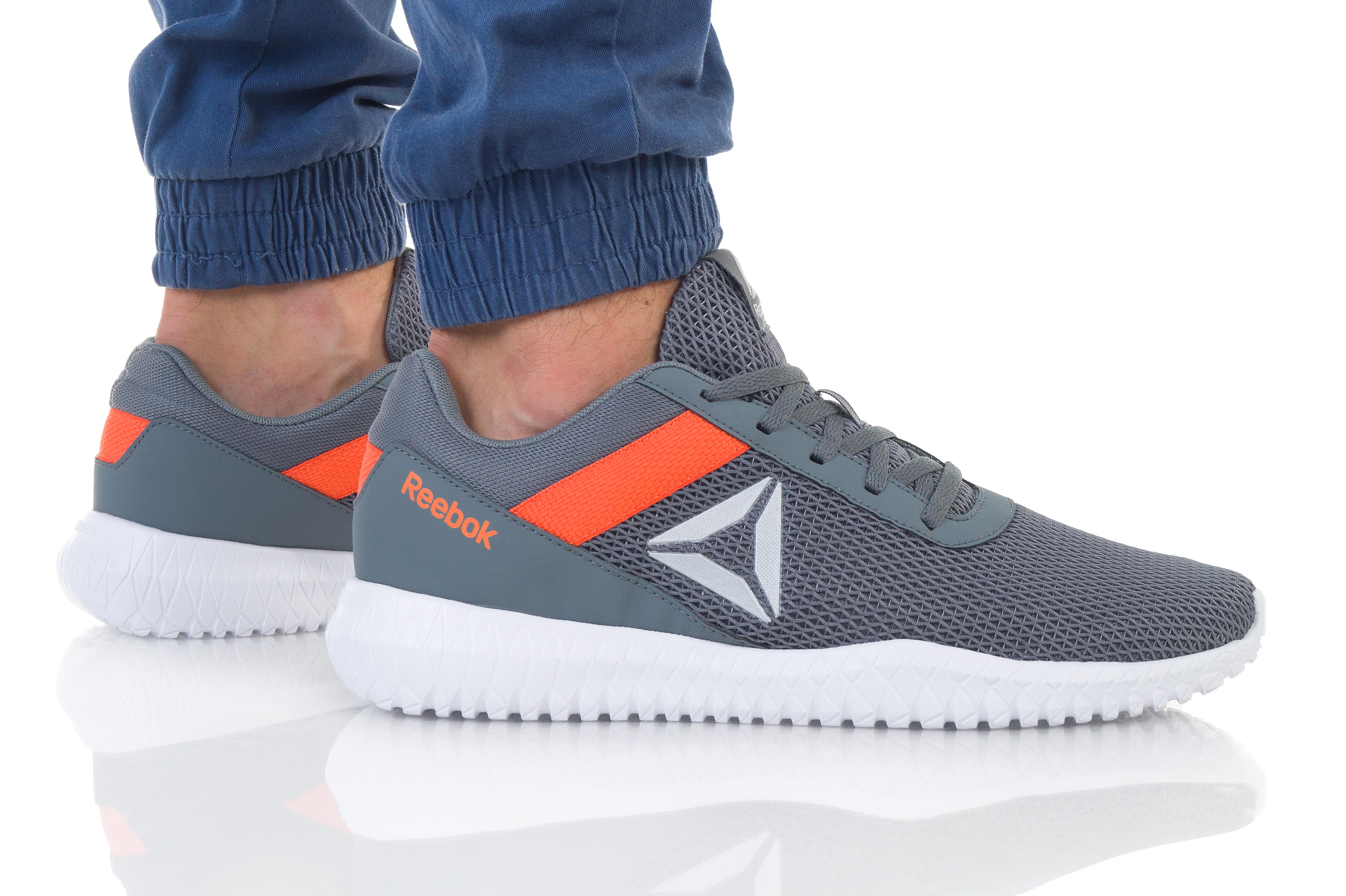 נעליים ריבוק לגברים Reebok Flexagon Energy TR - אפור/כתום