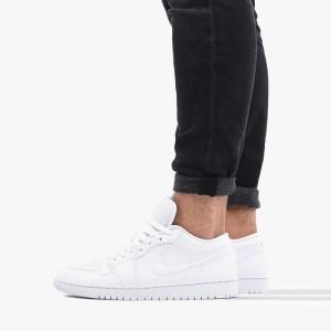 נעליים נייק לגברים Nike Air Jordan 1 Low - לבן