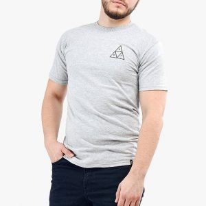 סווטשירט HUF לגברים HUF Triple Triangle - אפור