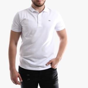 חולצת פולו לקוסט לגברים LACOSTE Erkek Polo Slim Fit - לבן