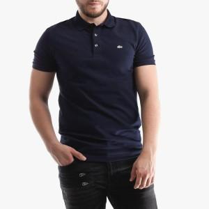 ביגוד לקוסט לגברים LACOSTE Erkek Polo Slim Fit - כחול כהה