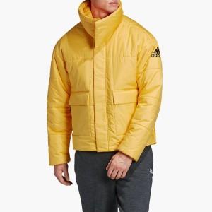בגדי חורף אדידס לגברים Adidas Big Baffle Jacket - צהוב