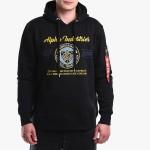 בגדי חורף אלפא אינדסטריז לגברים Alpha Industries 59-19 Hoody - שחור