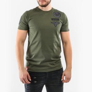 ביגוד אלפא אינדסטריז לגברים Alpha Industries Air Crew - ירוק