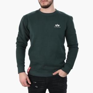 ביגוד אלפא אינדסטריז לגברים Alpha Industries Basic Sweater Small Logo - ירוק