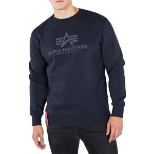 ביגוד אלפא אינדסטריז לגברים Alpha Industries Basics Sweater - כחול כהה