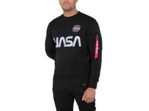 ביגוד אלפא אינדסטריז לגברים Alpha Industries Nasa Reflective Sweater - שחור