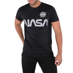 ביגוד אלפא אינדסטריז לגברים Alpha Industries Nasa - שחור