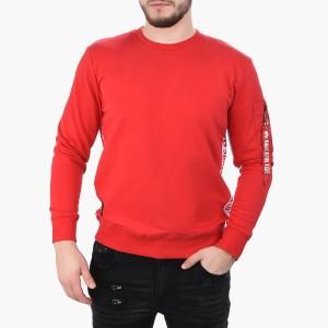 ביגוד אלפא אינדסטריז לגברים Alpha Industries RFB Inlay Sweater - אדום