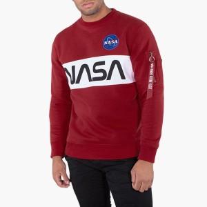 ביגוד אלפא אינדסטריז לגברים Alpha Industries Space Shuttle Sweater - כחול כהה