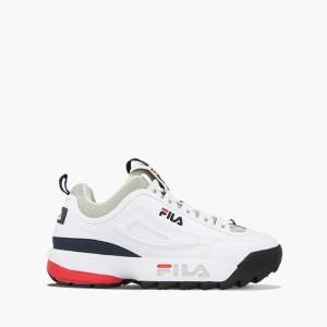 נעליים פילה לגברים Fila Disruptor Low - לבן  כחול  אדום