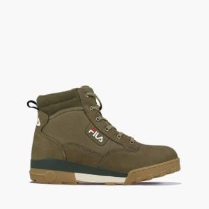 נעליים פילה לגברים Fila Grunge II Mid - ירוק זית