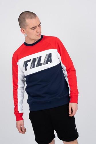 בגדי חורף פילה לגברים Fila Layton Colour - לבן  כחול  אדום