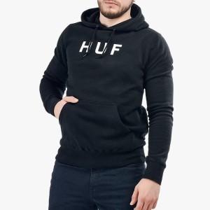סווטשירט HUF לגברים HUF Hooded OG Logo - שחור