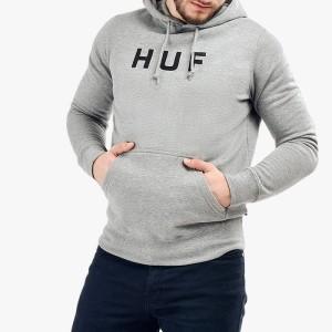 סווטשירט HUF לגברים HUF Hooded OG Logo - אפור