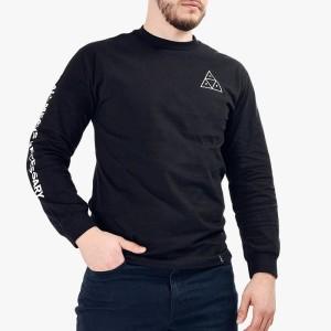 ביגוד HUF לגברים HUF Triple Triangle - שחור