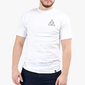 סווטשירט HUF לגברים HUF Triple Triangle - לבן