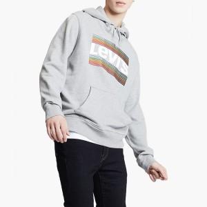 בגדי חורף ליוויס לגברים Levi's Graphic Hoodie - אפור
