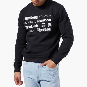 ביגוד ריבוק לגברים Reebok Classics International Crew - שחור