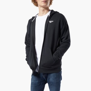 ביגוד ריבוק לגברים Reebok Classics International Graphic Hoodie - שחור