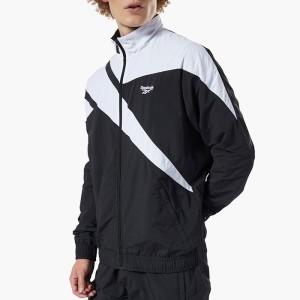 ביגוד ריבוק לגברים Reebok Classics Vector Track Jacket - שחור/לבן