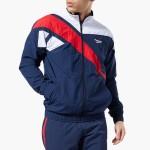 בגדי חורף ריבוק לגברים Reebok Vector Track Jacket - לבן  כחול  אדום