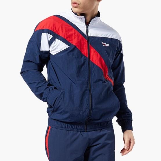 ביגוד ריבוק לגברים Reebok Vector Track Jacket - לבן  כחול  אדום