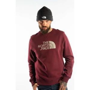 בגדי חורף דה נורת פיס לגברים The North Face DREW PEAK CREW JC6 - אדום