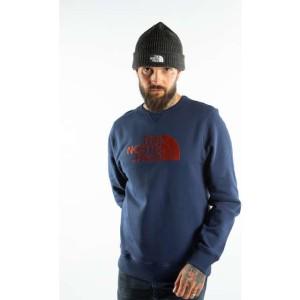 בגדי חורף דה נורת פיס לגברים The North Face DREW PEAK CREW JC6 - כחול