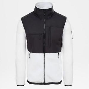 ביגוד דה נורת פיס לגברים The North Face Denali Fleece Blucoral - שחור/לבן