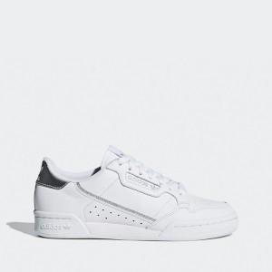 נעלי סניקרס אדידס לנשים Adidas Originals Continental 80 J - לבן/כסף