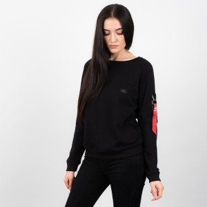 בגדי חורף אלפא אינדסטריז לנשים Alpha Industries 17803003 - שחור