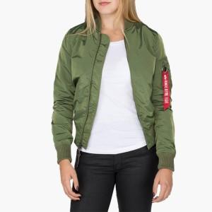 בגדי חורף אלפא אינדסטריז לנשים Alpha Industries MA-1 TT - ירוק
