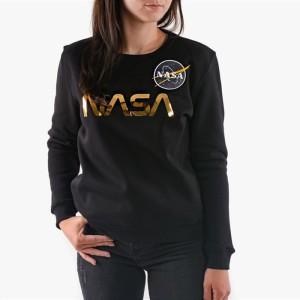 בגדי חורף אלפא אינדסטריז לנשים Alpha Industries NASA PM Sweater - שחור