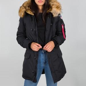 בגדי חורף אלפא אינדסטריז לנשים Alpha Industries Polar Jacket - שחור