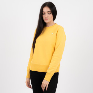 בגדי חורף צ'מפיון לנשים Champion Crewneck - צהוב