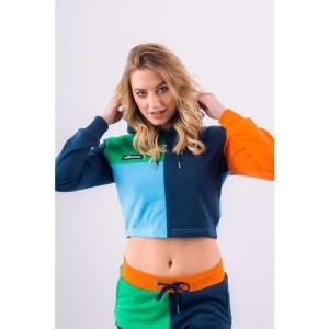 בגדי חורף אלסה לנשים Ellesse CANEL CROPPED HOODY - צבעוני בהיר