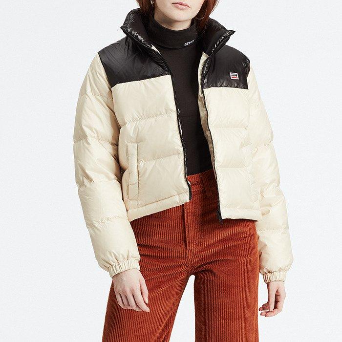 בגדי חורף ליוויס לנשים Levi's Francesca Down Puffer - לבן/שחור