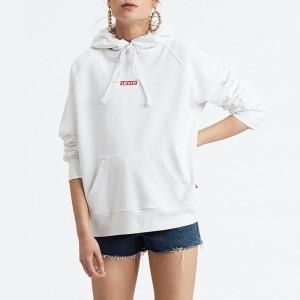 בגדי חורף ליוויס לנשים Levi's Graphic Sport Hoodie - לבן