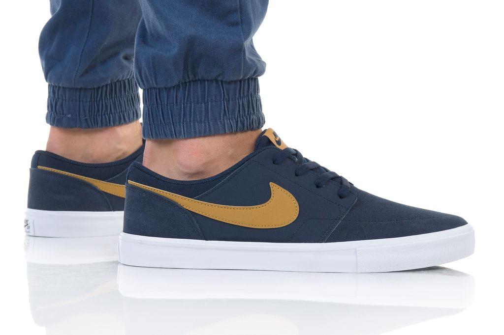 נעליים נייק לגברים Nike SB PORTMORE II SOLAR - כחול
